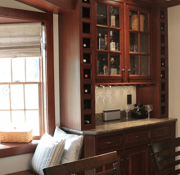 custom cabinets, wine cabinet